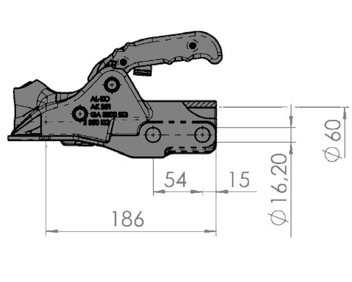 Kuglekobling AL-KO AK351 3500kg