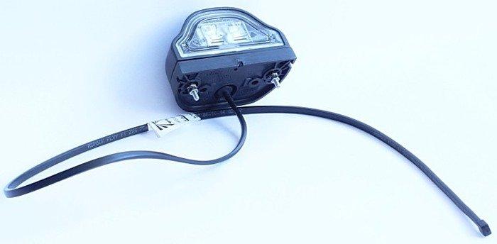 Nummerpladelys Aspöck Regpoint LED kabel 0,8 m