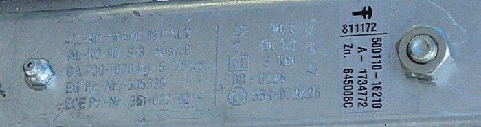 Påløbsbremse AL-KO 1000 kg V 90S/3 AK 161